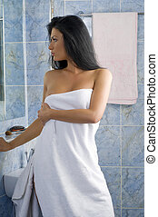 everything in the right place - attractive woman in white...