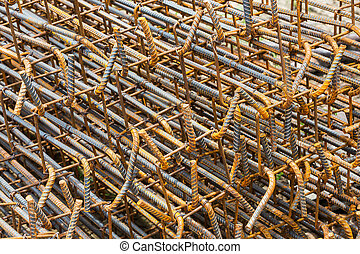 Rusty rebar - Close up rusty rebar texture in construction...