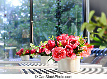 Artificial Nosegay of Flower of Red Rose - The Artificial...