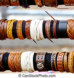 handcrafts colorful bracelets - Native American handcrafts...