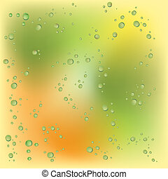 Raindrops On My Window vector - image of Raindrops On My...