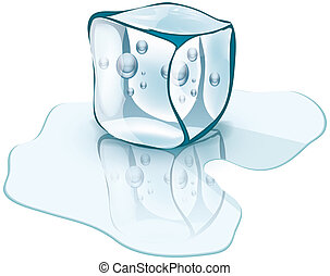 ice cube - Ice abstract vector illustration of a cartoon...