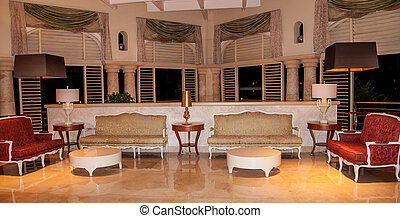 Interior of a Luxury Resort - Interior of a luxury resort...