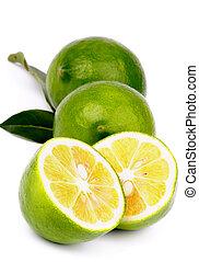 Green Lemons - Arrangement of Fresh Ripe Green Lemons Full...