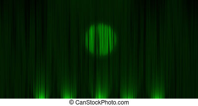 green curtains with spotlight - green stage curtains with...