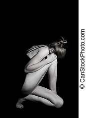 Ballerina - Black and white photo of woman dancer