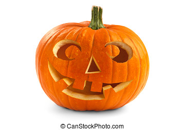 Halloween pumpkin - Single Halloween pumpkin. Scary Jack...