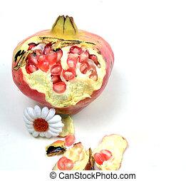 pomegranate , macro