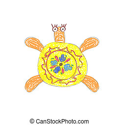 yellow Turtle vector