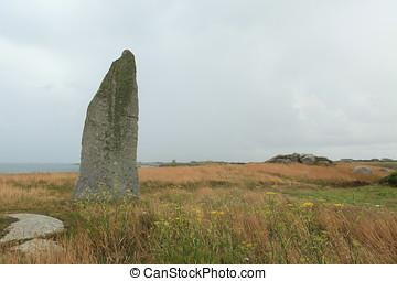 Menhir in Brittany - menhir in brittany