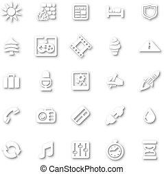 White minimalist icon set