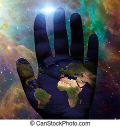 Earth hand galactic