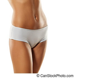 usually female underwear - pretty female hips and belly in...