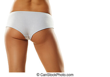 usually female underwear - pretty female buttocks in...