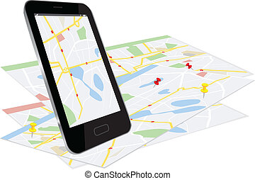 Smart Phone with navigation system - Smart phone with...