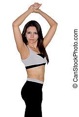 Fitness model striking a pose - A latina fitness model in...