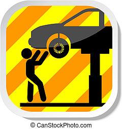 Auto service icon - Auto service eps 10