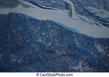 Siberia aerial city