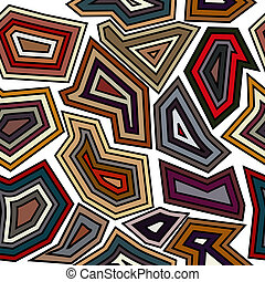 Seamless pattern with full-color elements