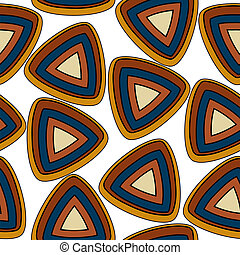 Seamless pattern with triangular elements