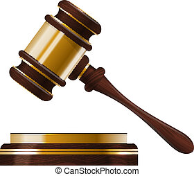 Wooden judges gavel