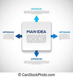 Infographics template with arrows.  vector illustration