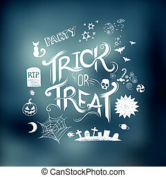 Trick Or Treat - Trick or Treat Halloween poster design with...
