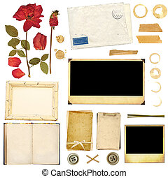 Collection elements for scrapbooking Objects isolated on...