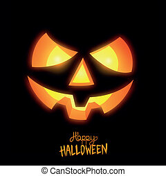 Happy Halloween Jack O Lantern vector illustration.