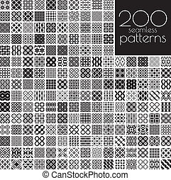 Black and white ornament patterns - 200 black and white...