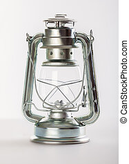 kerosene lamp - A kerosene lamp on a grey background