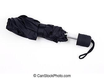 Black Umbrella isolated on white background