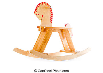 Rocking horse Isolated on a white background