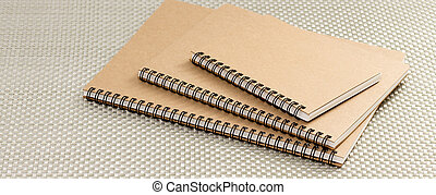 Brown Recycled ring binder notebook