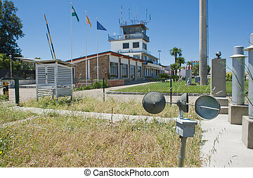 Anemometer on airfield - Metallic anemometer, a device for...