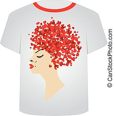 Printable tshirt graphic-Hairstyle - Printable tshirt...