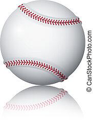 Baseball ball on a white background. Vector illustration