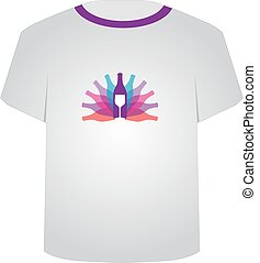 T Shirt Template- party
