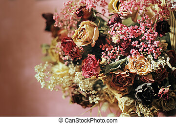 Old Flowers - Still life with miscellaneous dried flowers....