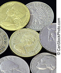 Old coins of different nationalities, from different periods...