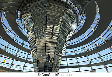 Reichstag Building - Berlin - Germany - Interior of the...