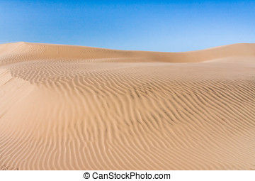 Sand dune of desert in southern Madagascar