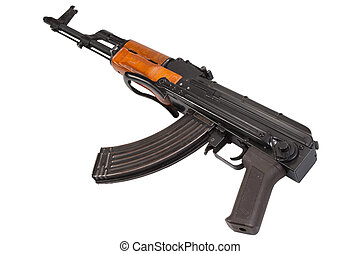 ak47 airborn version assault rifle on white