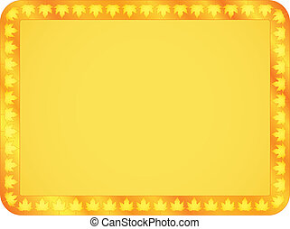 background with maple leaves frame