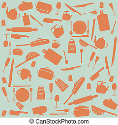 Kitchen tools - Set of kitchen tools, vector illustration