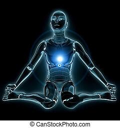 Glowing humanoid