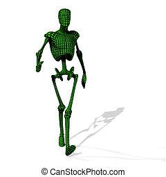 cyborg, verde