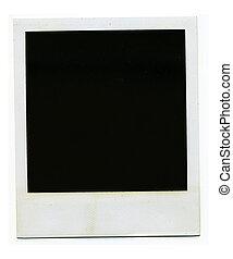 Retro blank photo frame - Old blank polaroid photo frame on...