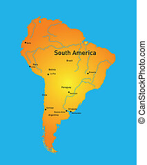 south america - Detailed south america vector map
