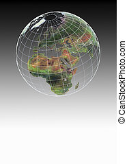 Globe showing Africa and Europe - Globe showing Africa,...